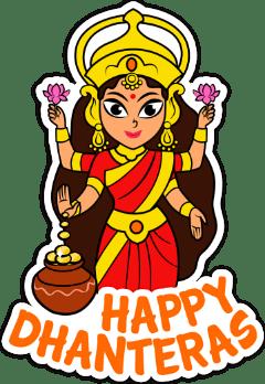 Happy Dhanteras Sticker's for Whatsapp