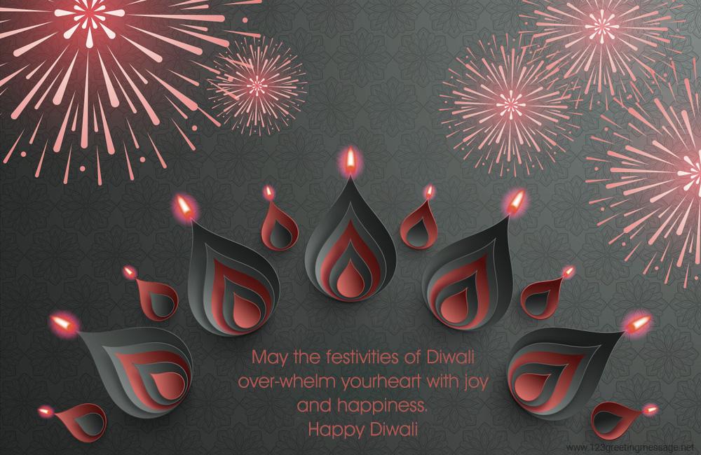 Happy Diwali Captions on HD Image