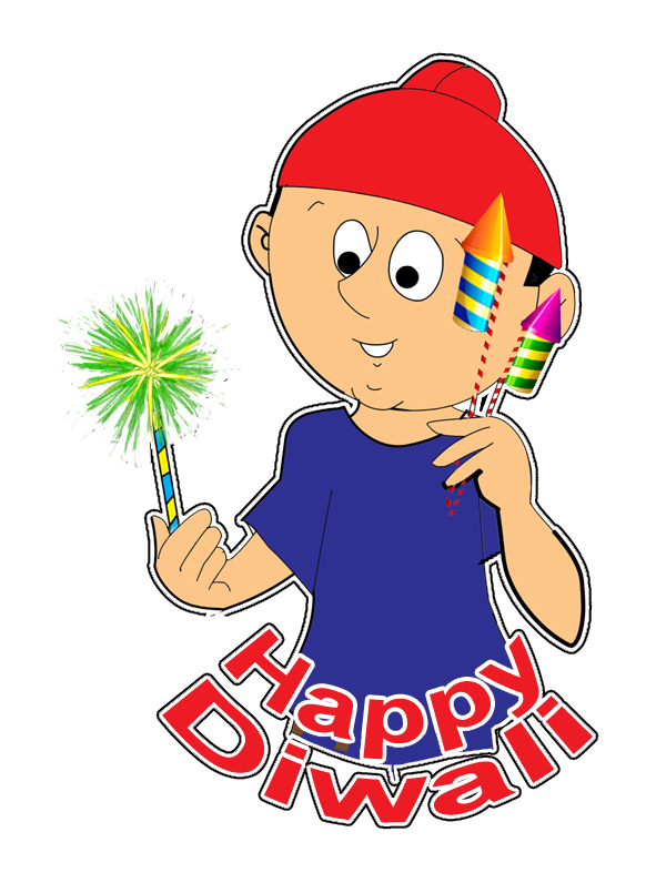 Happy Diwali Cartoon Stickers