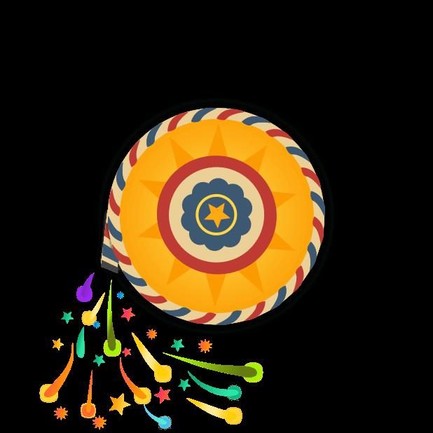 Happy Diwali Fireworks Stickers