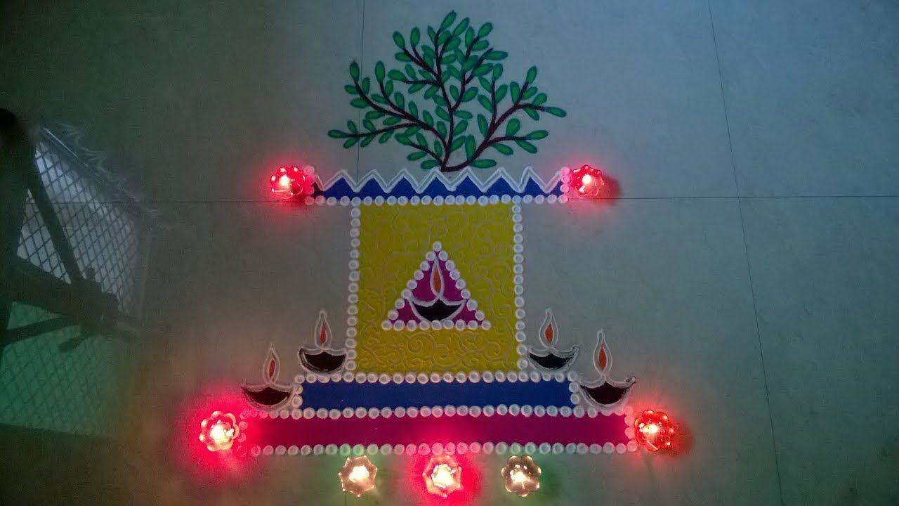 Tulsi vivah celebrations rangoli design