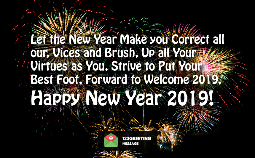Goodbye 2018 Welcome 2019 Wishes