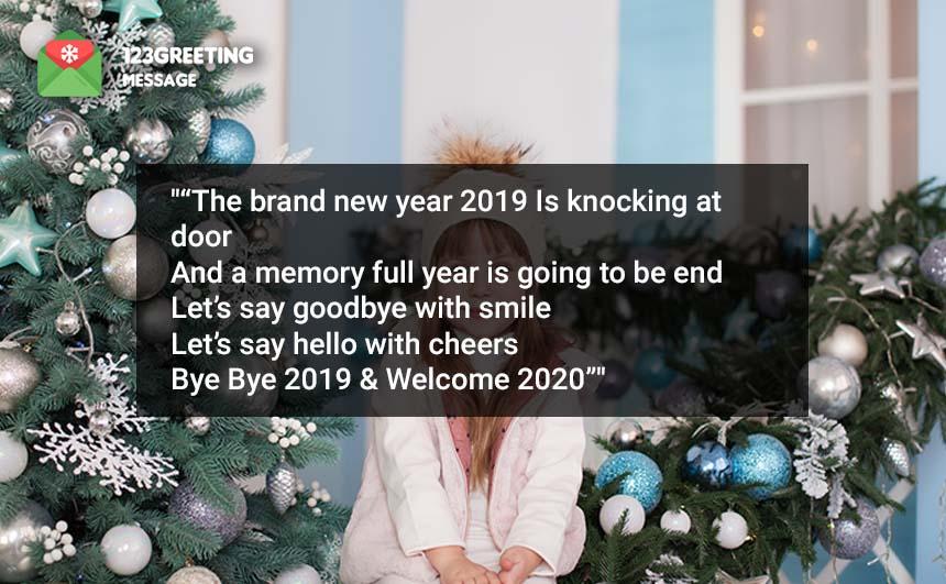 Goodbye 2019 Welcome 2020 Wishes