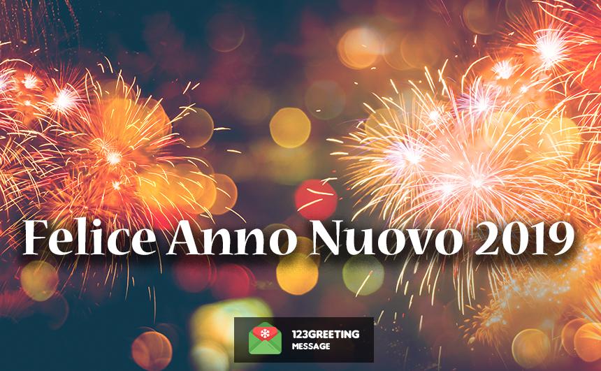 Happy New Year 2019 in Italian (Felice Anno Nuovo)