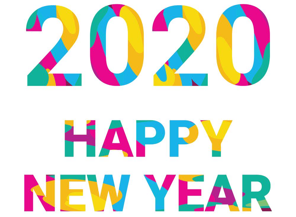 Happy New Year 2020 Stickers