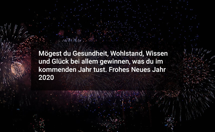 Happy New Year 2020 in Germany