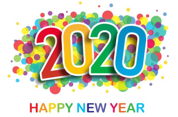 Happy New Year Stickers 2020