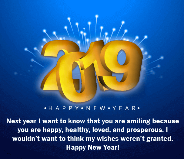 Wishing you a very Happy New year 2019 SMS
