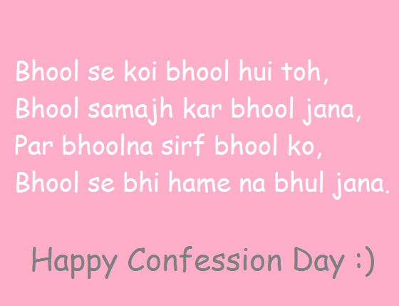 Confession Day Wishes