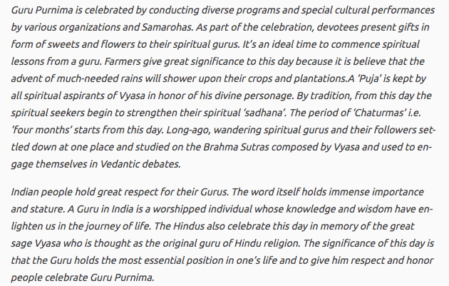 Guru Purnima Speech in English