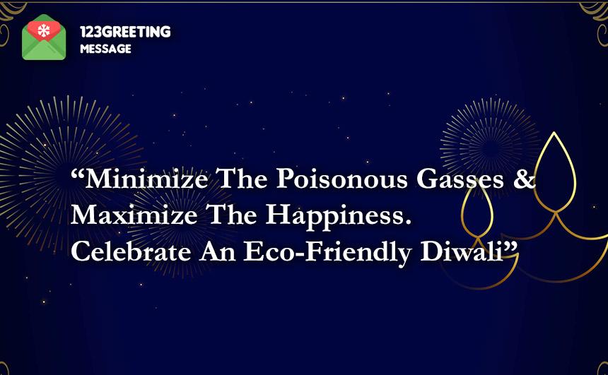 Eco-Friendly Deepavali Slogans
