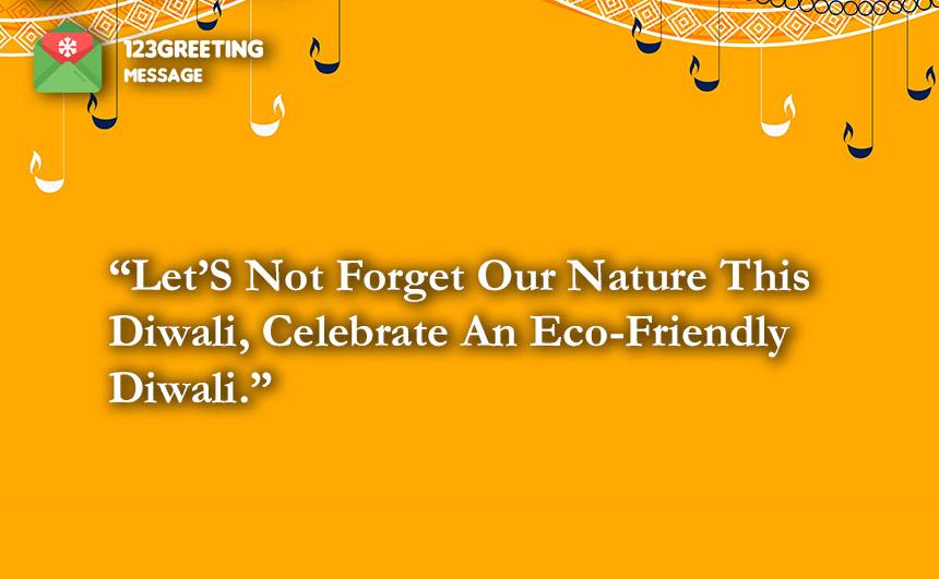 Eco-Friendly Diwali Quotes