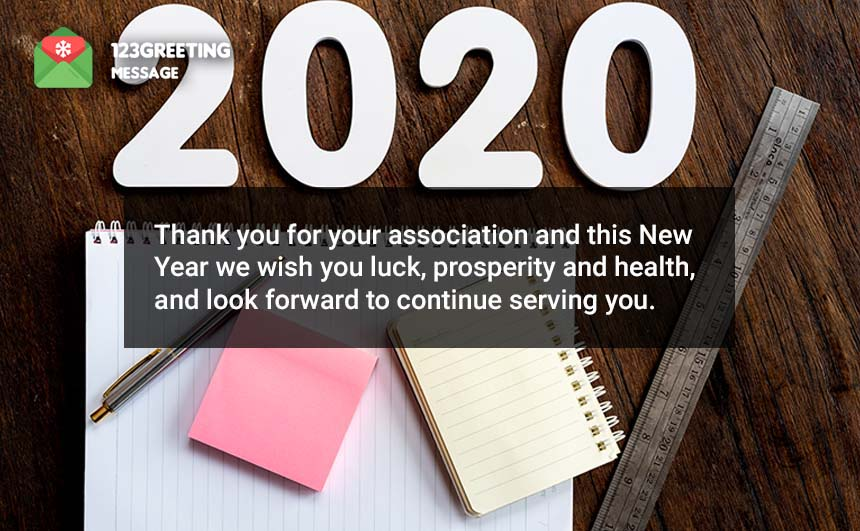 Happy New Year Wishes for Client