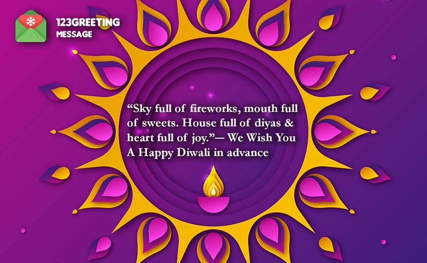 Advance Happy Deepavali 2019 Wishes