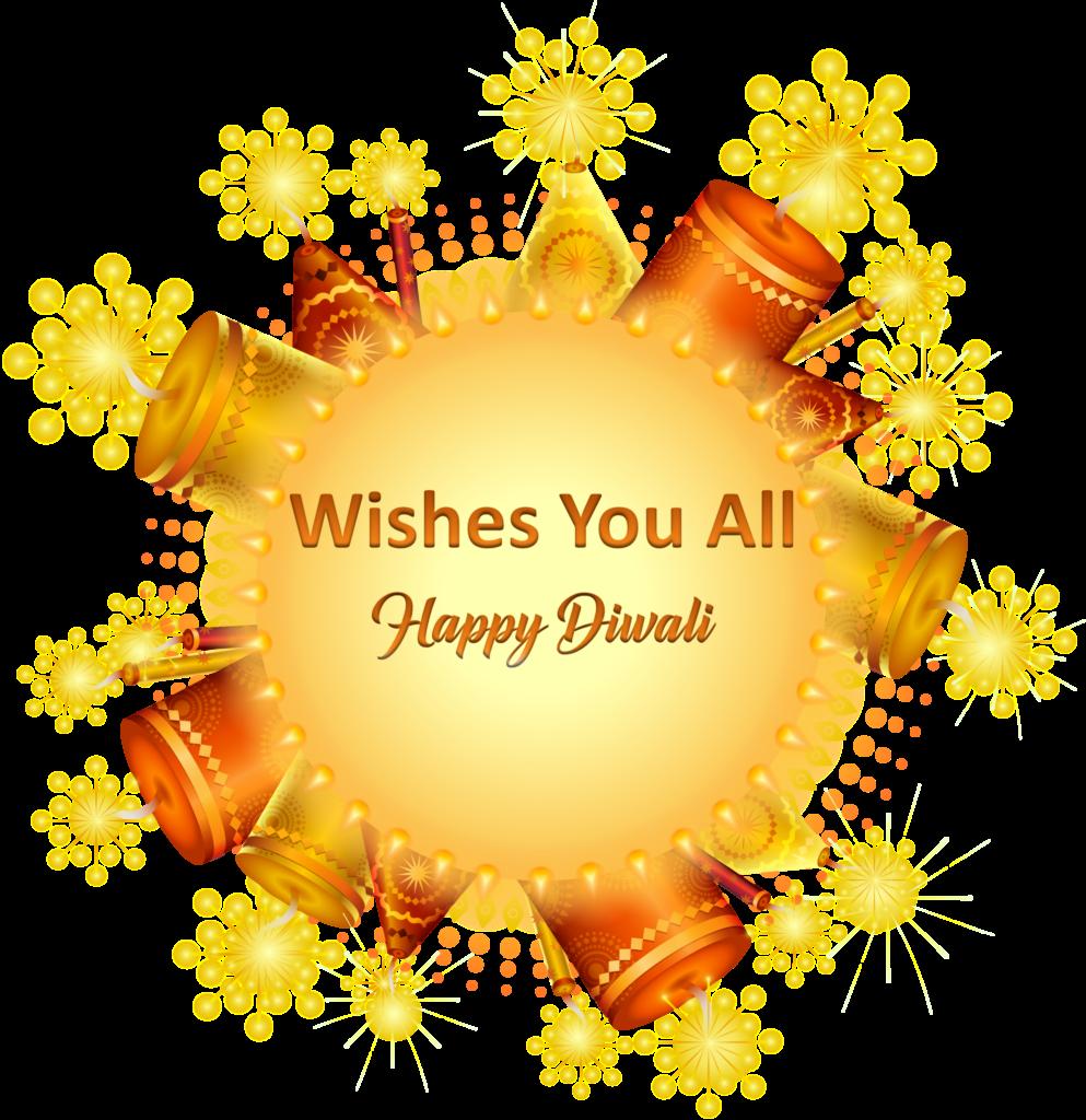 Happy Diwali Sticker with Wishes