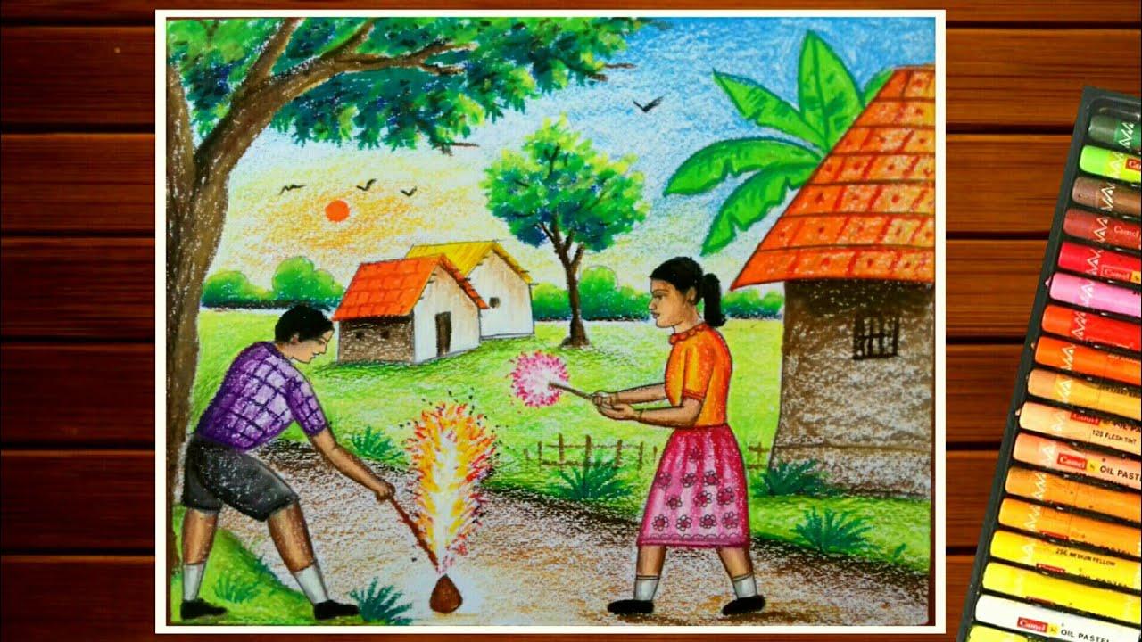 Diwali Scenes & Sketch 2021