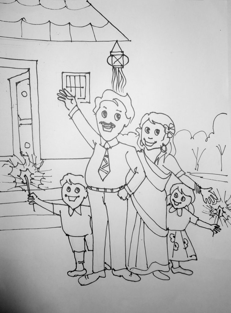 Diwali Sketch 2019
