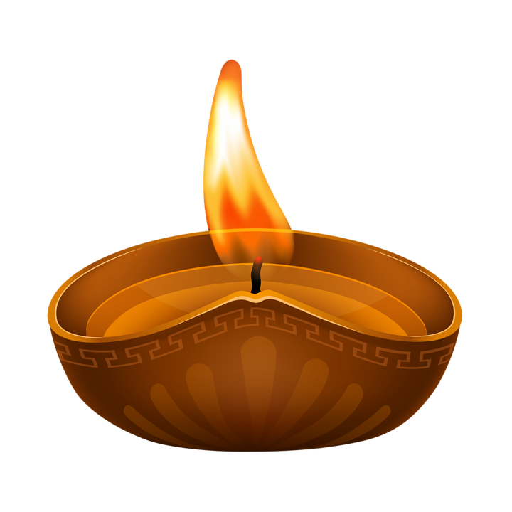 Diya Cliparts for Deepavali