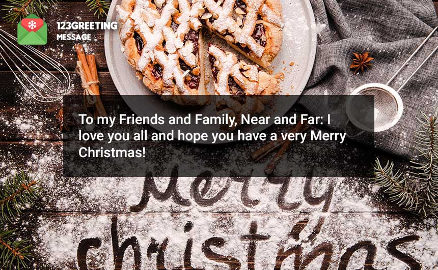 Merry Christmas Status for Friends & Family